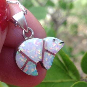 Vintage Silver Opal  Bear?