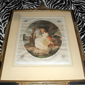 Found two 1920's framed engravings by  L. Dupont copyright Alfred Bell