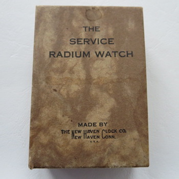 New Haven The Service Radium Watch Box