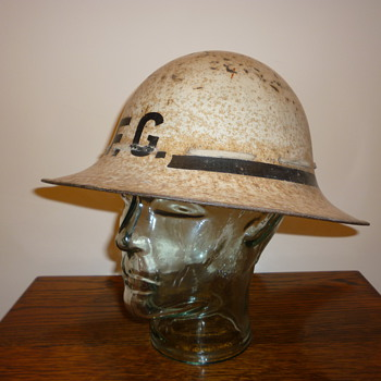 British WWII Civil Defence Senior Fire Guard steel helmet