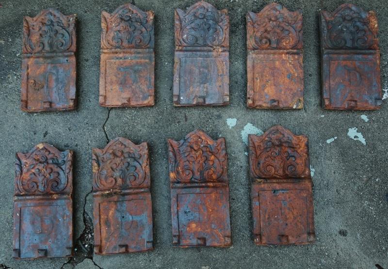 Antique Terracotta Garden Edging Tiles Collectors Weekly