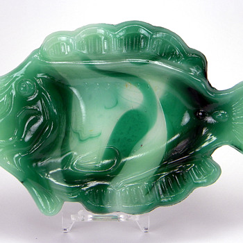 Agate Fish Ashtray - Tobacciana