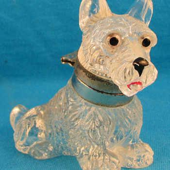 CZECH FIGURAL INKWELL: SCOTTISH TERRIER - Pens