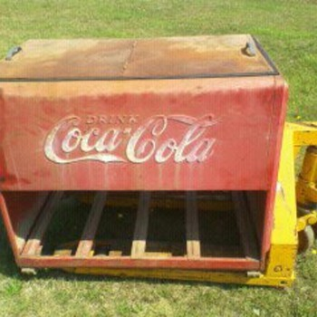 Coca Cola Cooler Chest Circa 1930's