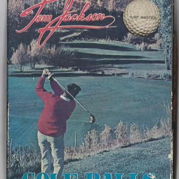 The Tom Jackson Turf Master Signature Golf Ball, circa 1965 - Outdoor Sports