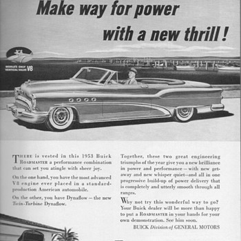 1953 - Buick Roadmaster Advertisement