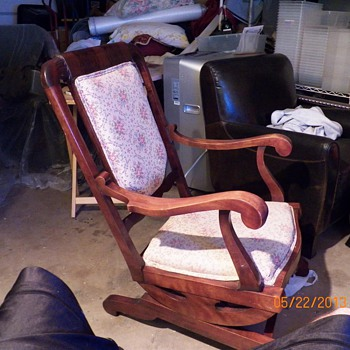 Rocker with little casters on front?` - Furniture