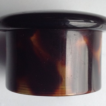 Vintage (Faux?) tortoise shell pill box