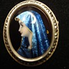 Enameled Limoges brooch.