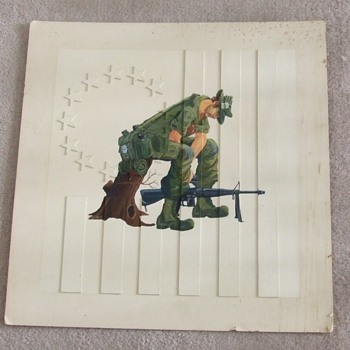 Viet Nam infantryman artwork c. 1971 - Military and Wartime