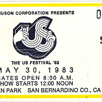 The Us Festival Ticket Stub - Paper