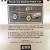 Moskvich Pedal Car AZLK  Print Advert