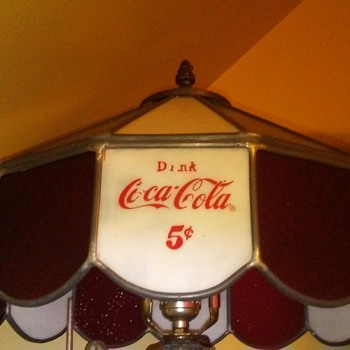 Coca cola lamp.stained glass