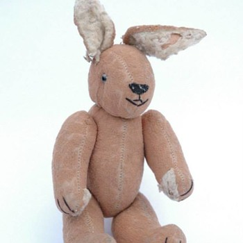 ancienne peluche - lapin vers 1930