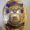 MINT IRAQI FREEDOM K-9 HANDLER POLICE OFFICER OVAL BADGE MINT!!