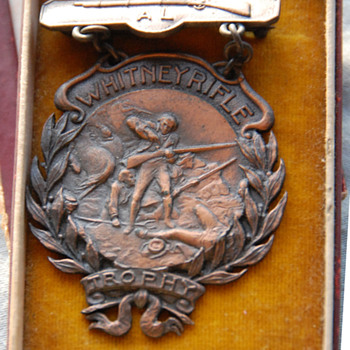 Whitney Rifle Trophy Medal_Sub-Target Championship 2nd Prize 1916-17 - Medals Pins and Badges