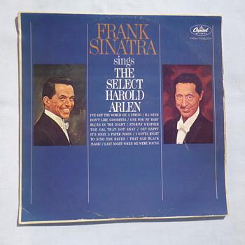 Ultra Rare Frank Sinatra sings the Select Harold Arlen LP
