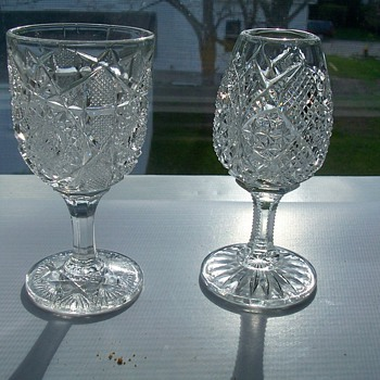 cut glass cordials - Glassware