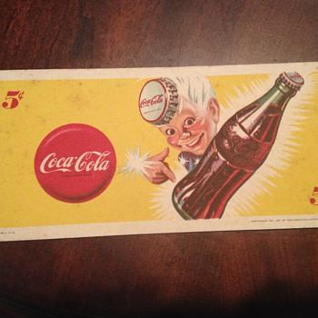 Coca Cola Blotter