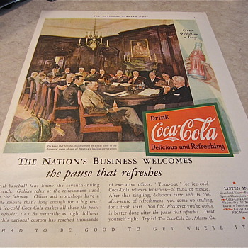 Older 1931 Coca Cola Ad from The Saturday Evening Post