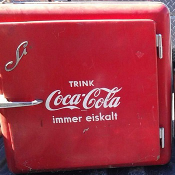 German mini coca cola fridge