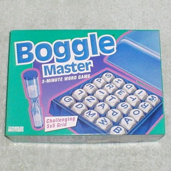 "1993 - ""Boggle Master"" Boardgame"