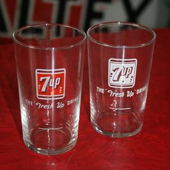 7up glasses - Advertising