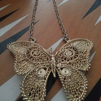 Just showing! Sascha Brastoff Butterfly Necklace