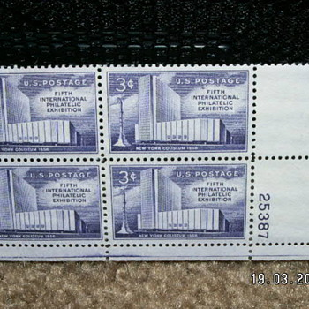 1958 New York Coliseum 3¢ Stamps  - Stamps