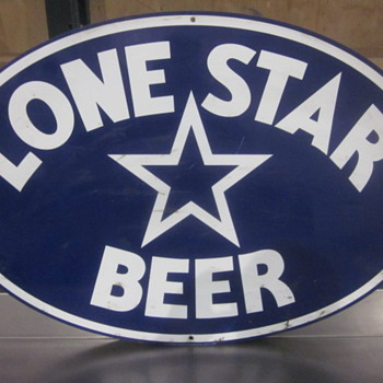 texas lone star metal sign - Signs