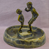 Marble Ashtray with Bronze Figures