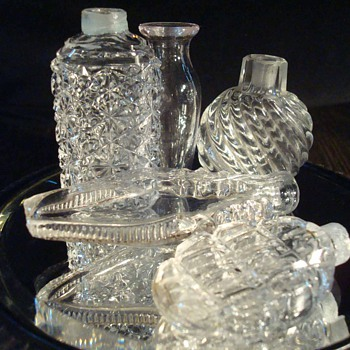 Group of Late 19th Century Perfume Bottles and Stoppers - Bottles