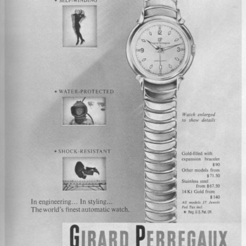 1953 - Girard Perregaux Watch Advertisement - Advertising