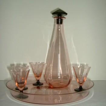 French Art Deco Decanter Set - Glassware