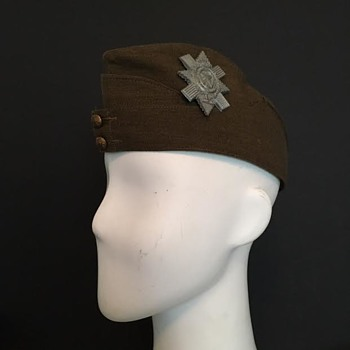 Black Watch Home Guard Side Cap  - Military and Wartime
