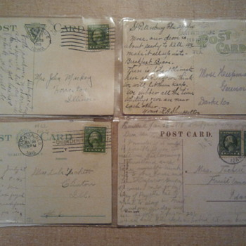Lot 3- Early 20th century post stamps & Post cards