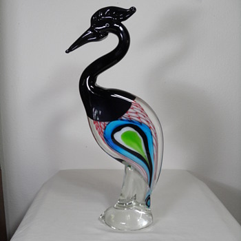 Ann Primrose Black & Colors Heron