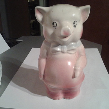 An intact piggy bank.  - Animals