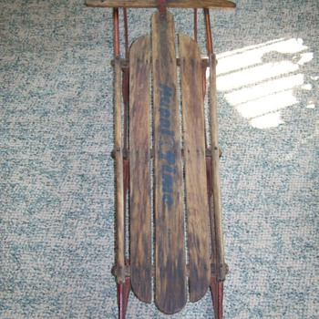 Vintage 1950's Happi Time Sled - Sporting Goods