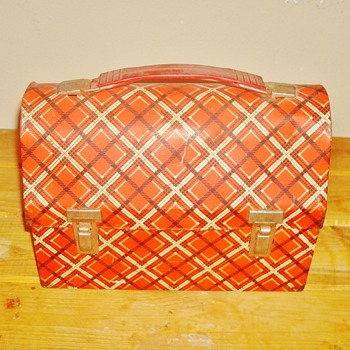 Plaid Thermos Lunch Box