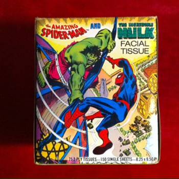 Spiderman and Hulk Tissue box - Paper