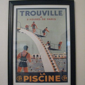 TROUVILLE REPRO POSTER
