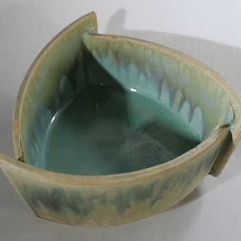 Art Deco Style 3 Sided Bowl - Art Pottery