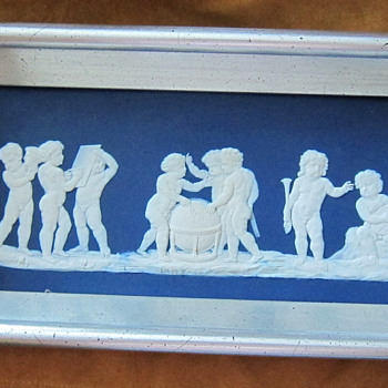 Framed Wedgwood Blue & White Jasperware Plaque - China and Dinnerware