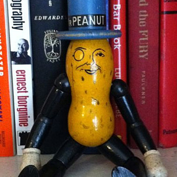 Planter&#039;s Mr. Peanut wooden doll toy - Advertising