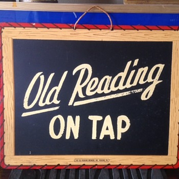 Old Reading On Tap Beer Sign - Breweriana