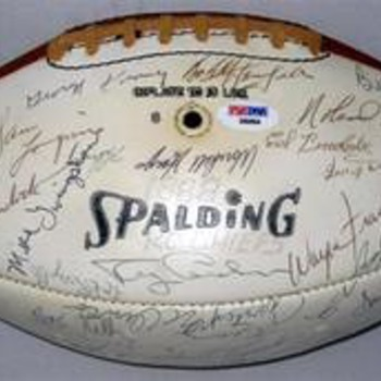 Super Bowl I team signed football - Football