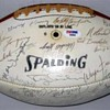 Super Bowl I team signed football
