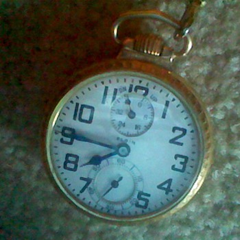 MY ELGIN B.W.RAYMOND WIND INDICATOR 21J RR POCKET WATCH PASSED DOWN TO ME - Pocket Watches