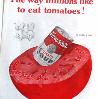 CAMPBELL SOUP ADVERTISEMENTS FROM THE 20'S TO THE 50'S.